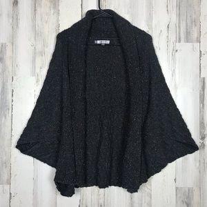Jenifer Lopez   Black Knit Pancho Cardigan Small